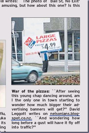 pizza placard