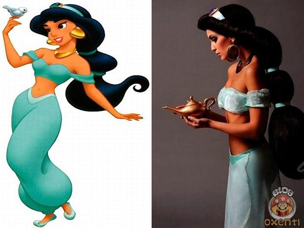 Personagens femininos de desenhos na vida real