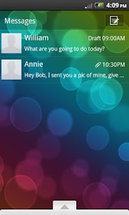 GO SMS Theme Bokeh Brilliance - screenshot