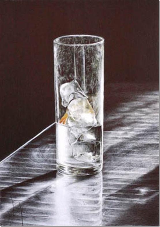 vaso con hielo y limon w