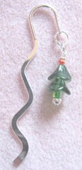 2011 Beaded gifts..xmas tree metal hook bookmark