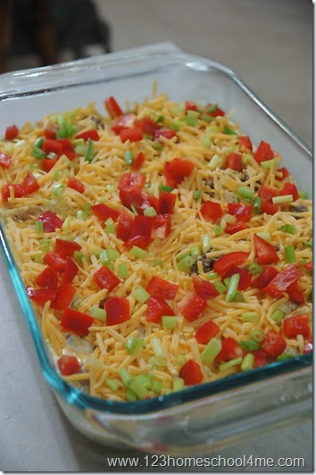 top with festive peppers if you like