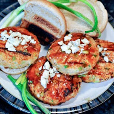 Buffalo Blue Cheese Chicken Burgers