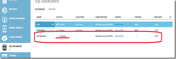 3SQL Server Creating msg