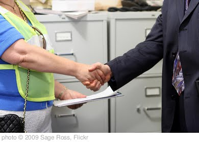 'Shaking hands with a Dodd staffer' photo (c) 2009, Sage Ross - license: http://creativecommons.org/licenses/by-sa/2.0/