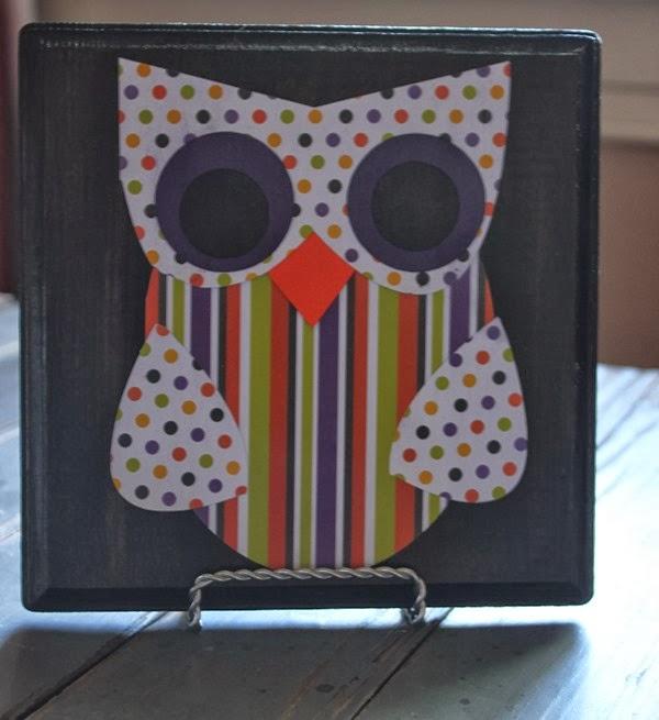 DIY Halloween Owl Wall Plaque Tutorial