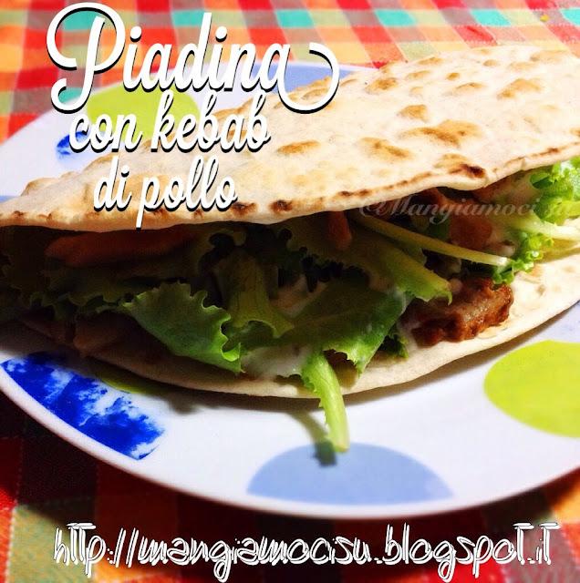 piadina con kebab di pollo