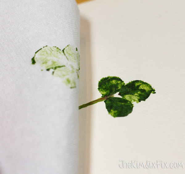 Pressing shamrock leaves