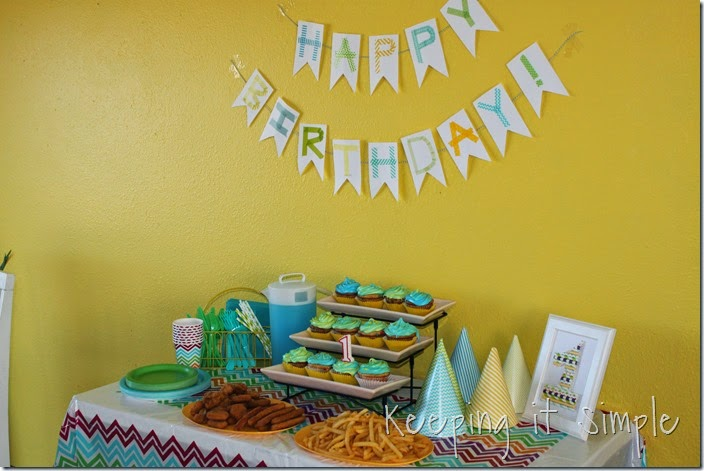 Find and save ideas about Simple first birthday on Pinterest. | See more ideas about Birthday picture displays, 1st birthday decorations boy and Birthday bunting.