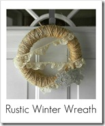 rustic winter wreath