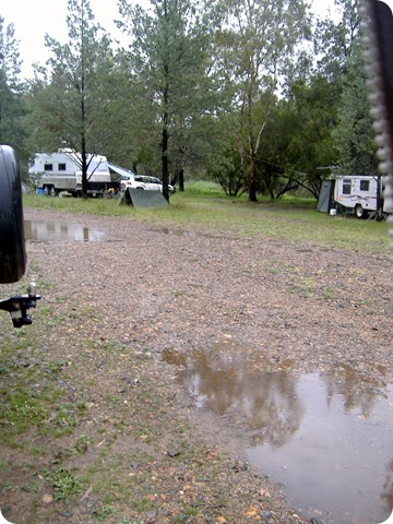 Gwydir River Campground - and still the rain comes