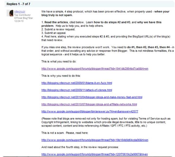 blogger forum advice