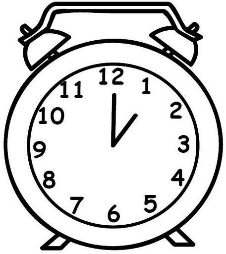 Imagen para pintar de un reloj  Imagui