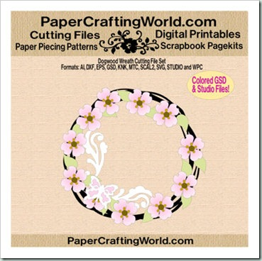 dogwood wreath papered 350