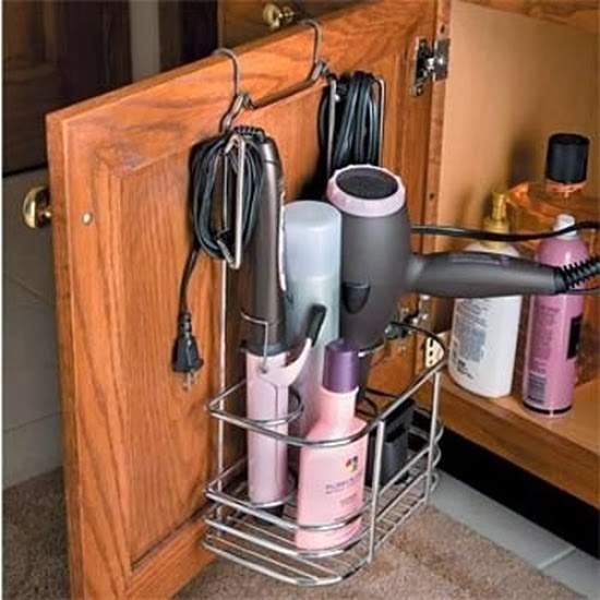 suporte para guardar secador cabelo