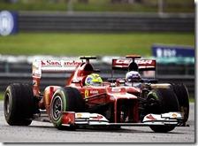 Massa nel gran premio della Malesia 2012