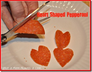 heart shaped pepperoni