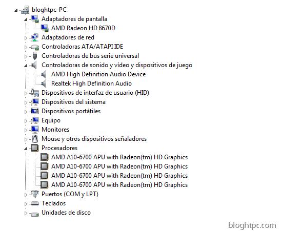Administrador Equipo AMD A10 6700