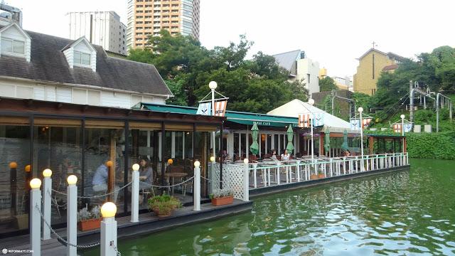 beautiful Canal Cafe since 1918 in Chiyoda, Tokyo in Chiyoda, Tokyo, Japan