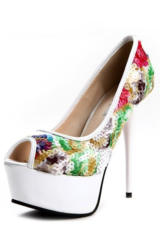 chic-colorful-sequined-peep-toe-pumps