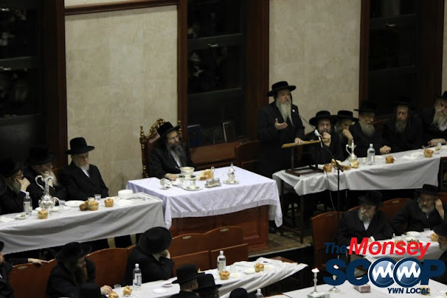Yartzheit Tish For Stamar Rebbe Held In Satmar Beis Medrash Of Monsey (Photos by Moshe Lichtenstein) - IMG_5448.JPG