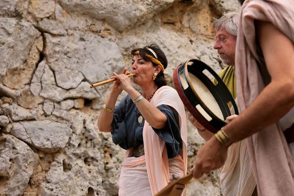 DE MÚSICA Instruments i música a l'antiga RomaLudi ScaeniciRecreació històricaTàrraco Viva, el festival romà de Tarragona. XIVa edició.Tarragona, Tarragonès, Tarragona