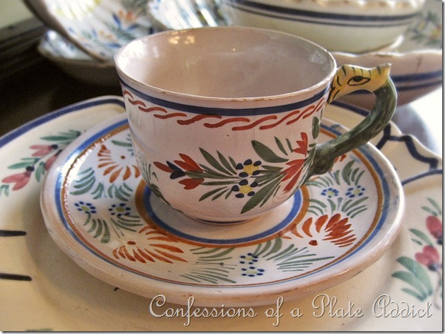 CONFESSIONS OF A PLATE ADDICT Quimper cup and saucer