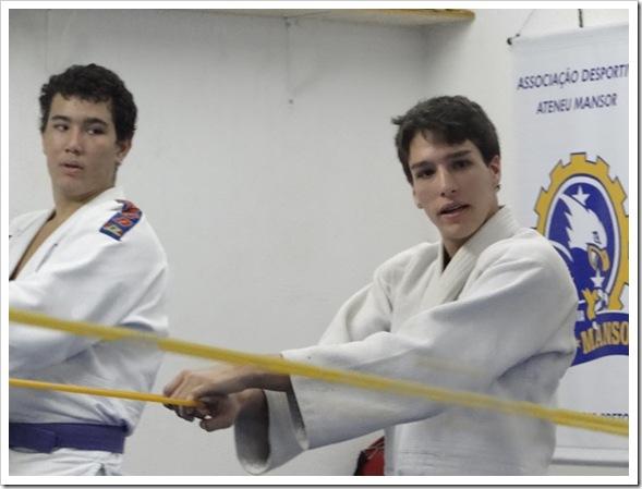 Kaio Nogueira e Victor Mansor em dia de treino