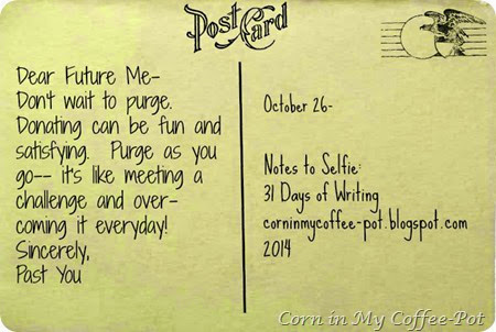 October 26 Post Card