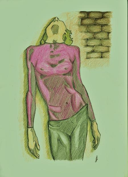 Dibujo de mujer, por Dolores Hernández