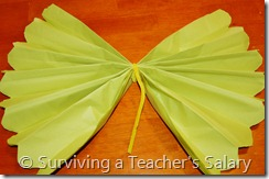 yellow diy truffula tree tissue paper