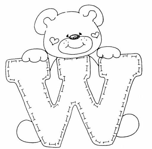 jpg tags abecedario animales osos letras abecedarios modelos de letras ...