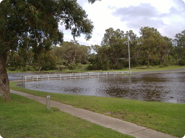 Quart Pot Creek, Stanthorpe - and the river is still coming up