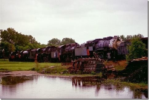 55389545-33 Steam Locomotives at the Illinois Railway Museum on May 23, 2004