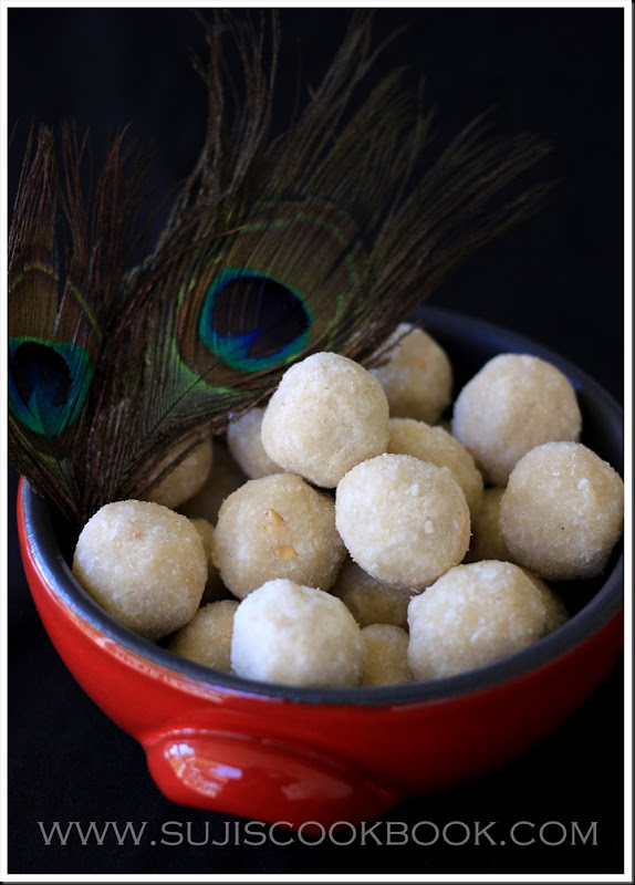 Aval laddu/poha laddu
