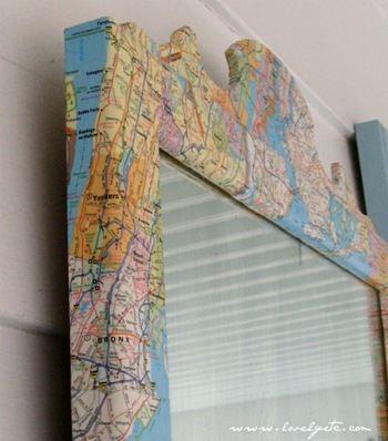 map mirror close up