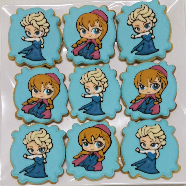 elsa & anna cookies