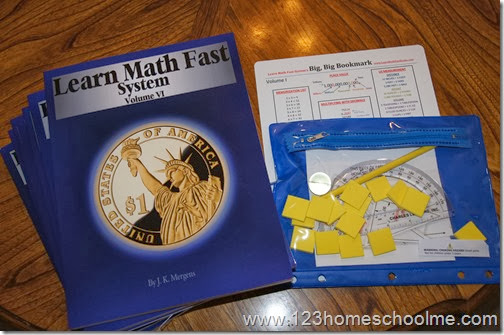 Learn Math Fast for 1st - 11th grade homeschoolers