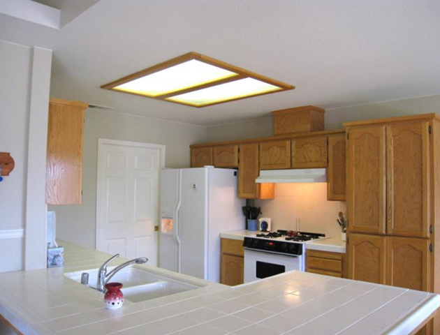 fluorescent kitchen ceiling lights