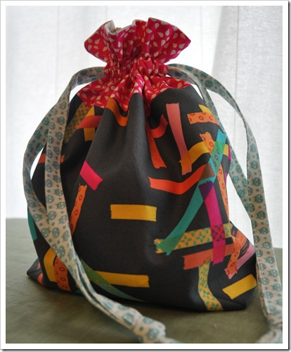 Washi drawstring bag