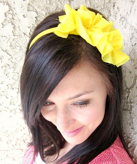 ruffle headband tutorial