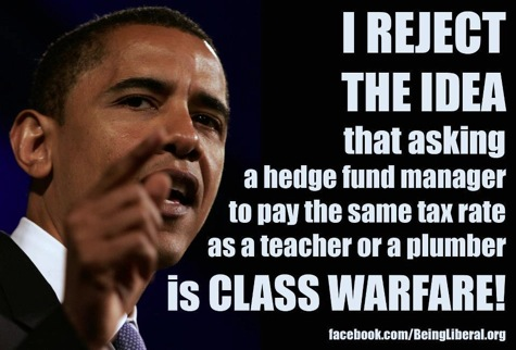 Obama class war fare