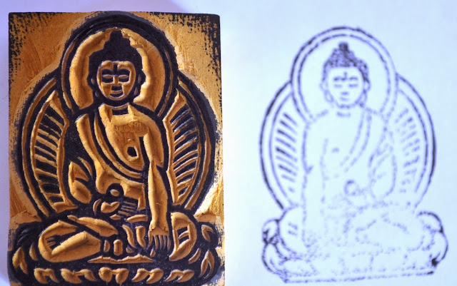 Wooden Block Buddha Stamp