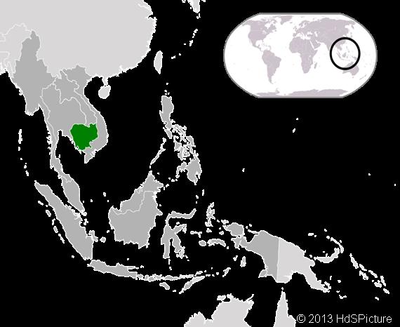 lokasi Kamboja