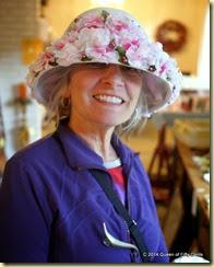 Vintage flowered hat