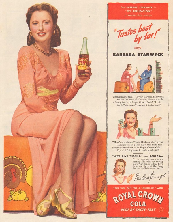 Royal Crown Cola Barbara Stanwyck