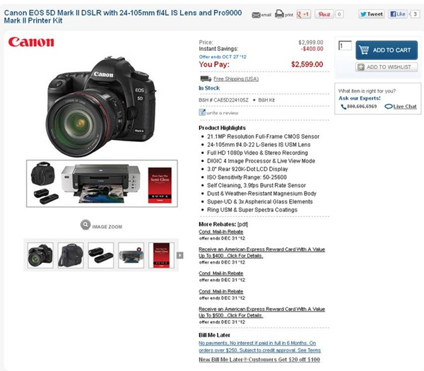 Canon 5D Mark II Bundle Sale