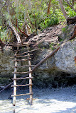 The High-Tech Ladder to Reach the Snorkel Area at Baie of Jinek - Lifou, New Caledonia