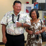 Mayor and Mrs Arakawa arrive at KCC for MECO meeting