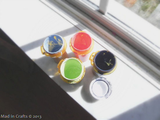 storing mixed paint colors